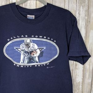 Vtg Cowboys Emmitt Smith T-shirt Large Dallas